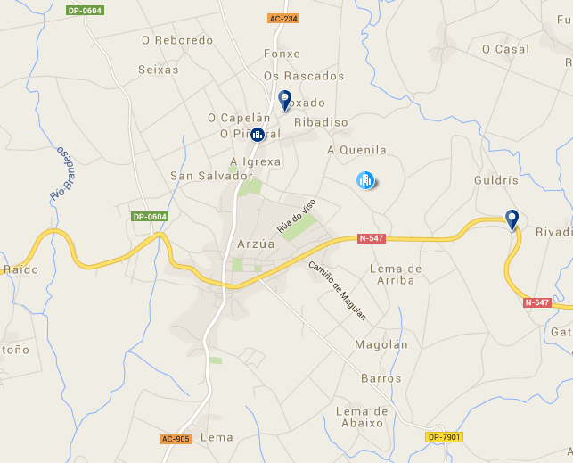 Booking.com results for Arzúa on the French Way