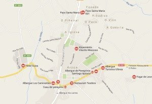 GoogleMaps results for Arzúa on the French Way