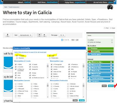 use of turgalicia english site