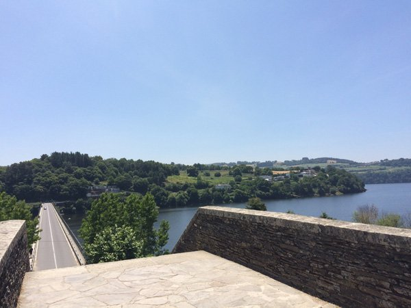 Arrival Portomarín view