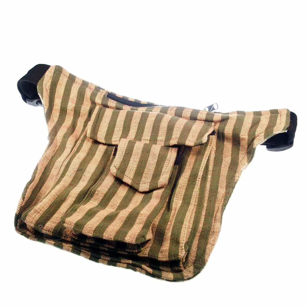 waist bag stripes green