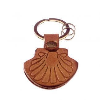 Leather Camino Shell Key Chain