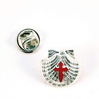 Shell Pin with Saint James Cross