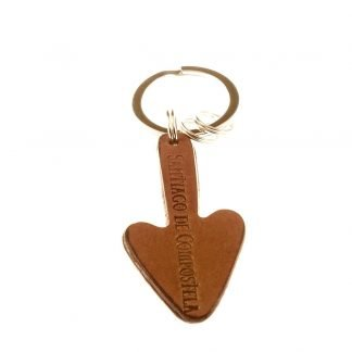 Leather Camino Arrow Key Chain