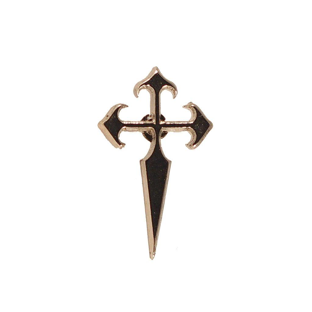 Metalen Sint Jacob Kruis Pin