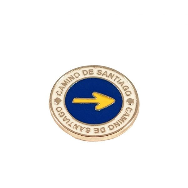 Arrow Pin Camino de Santiago