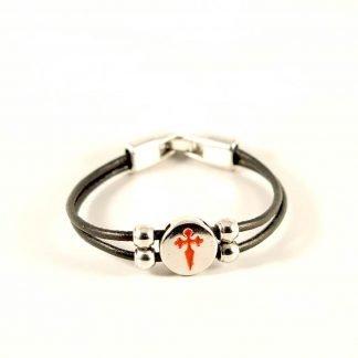 Lederen Armband Santiago Kruis