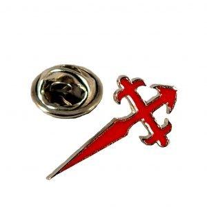 Saint James Cross Pin Red
