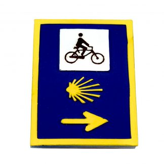 Bicycle Camino Traffic Sign Magnet