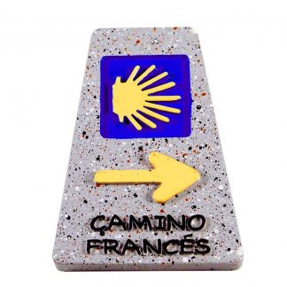 Kilometerpaal Camino Francés Magneet