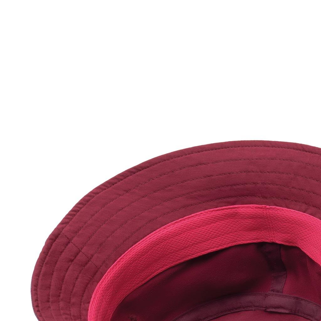 Travel Bucket Hat Calyx Dark Red