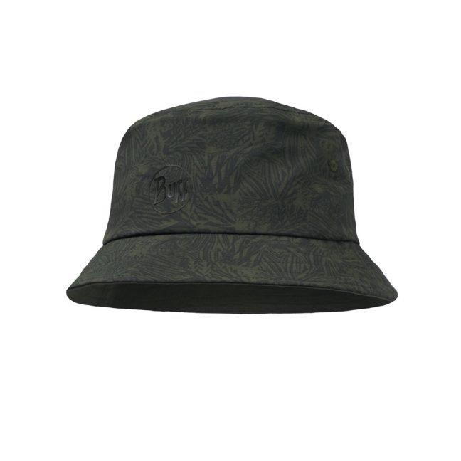 Travel Bucket Hat Checkboard Moss Green