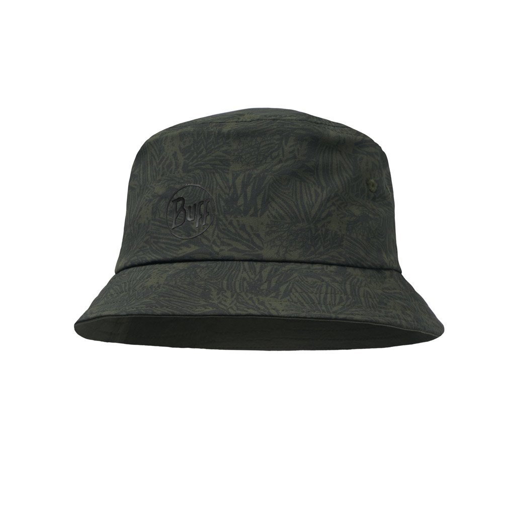 Travel Bucket Hat Checkboard Moss Green