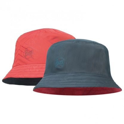 Travel Bucket Hat Collage Red Black