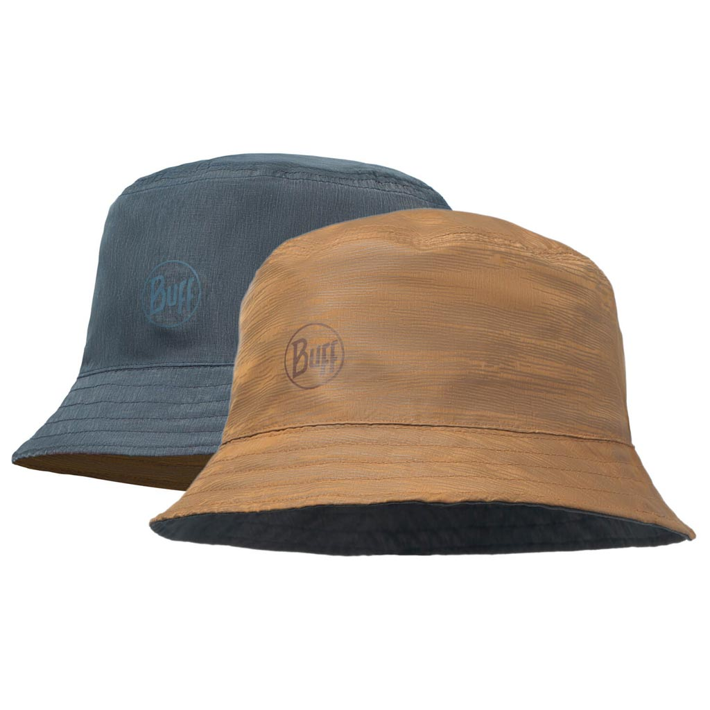 Travel Bucket Hat Landscape Desert Navy