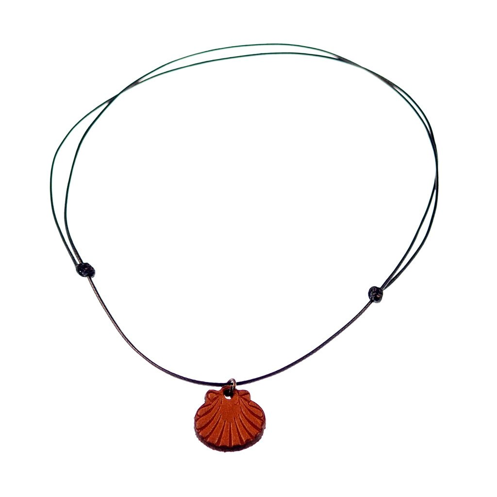 leather st james shell necklace